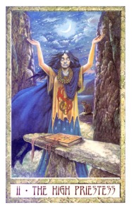 Druid Craft Tarot-The High Priestess