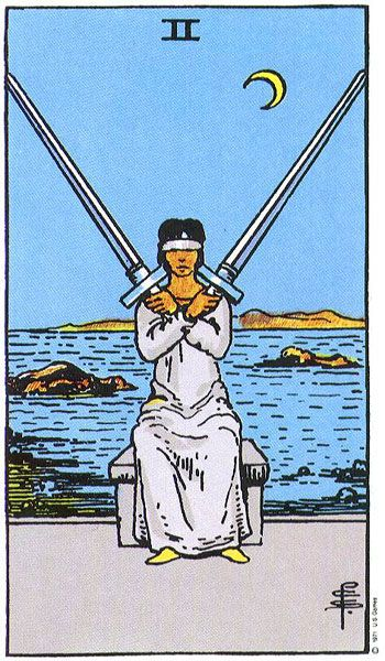 Tarot:  2 of Swords