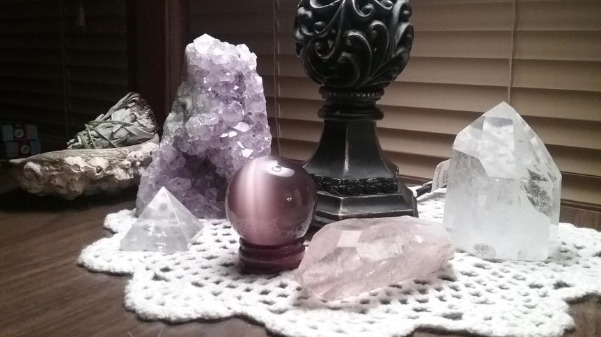 A Crystal, A Candle, & a French Chant